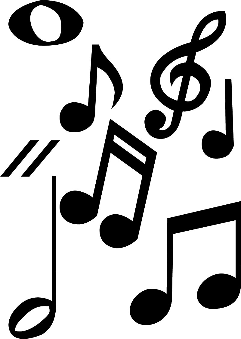 notes musical different symbols note centerpieces graduation word typography ad variety thing did musicals