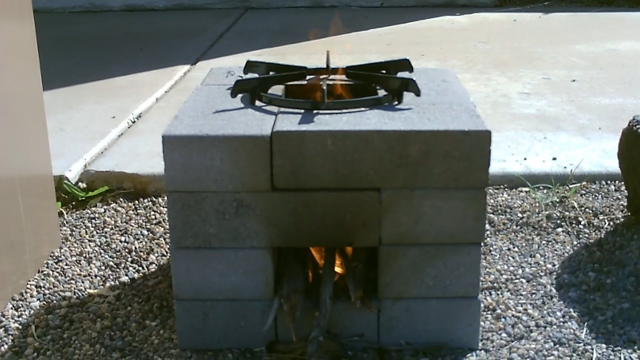 Diy how to make your own brick rocket stove or pugon for Brick jet stove