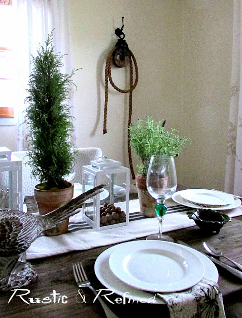Adding touches of rustic decor around the home.