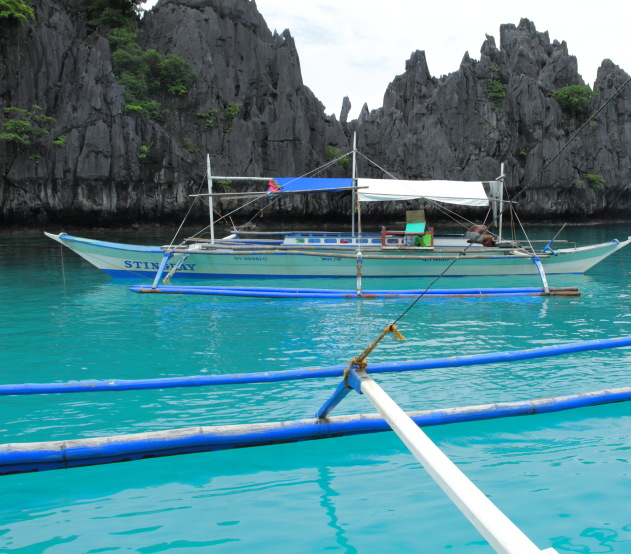 Limestone karsts and emerald waters - great for scuba diving off Coron island