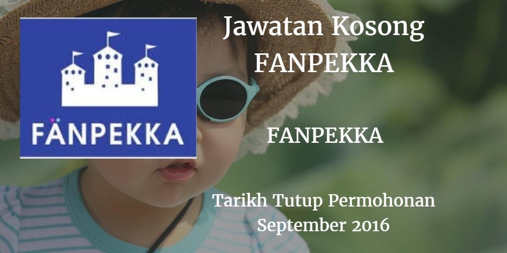 Jawatan Kosong FANPEKKA September 2016