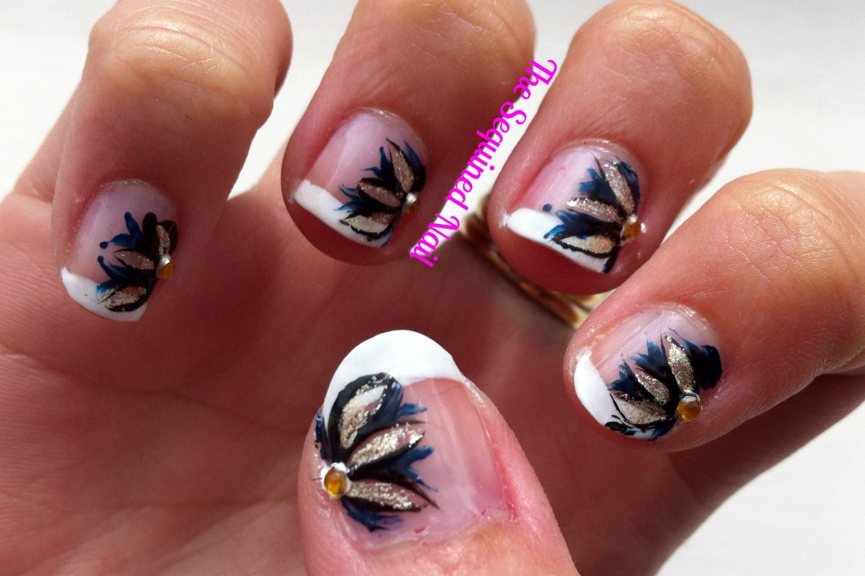 The Sequined Nail Prom Nails