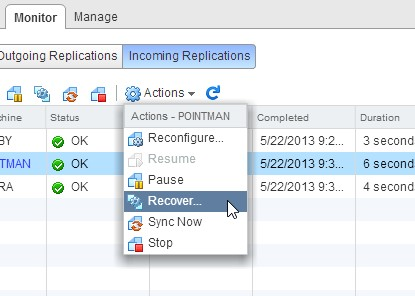 VMware Front Experience: Automating VM recovery with stand