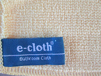 bathroom e-cloth with extra long fibres