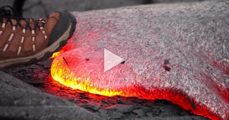 Isang lalaki, napagtripan na umapak sa lava