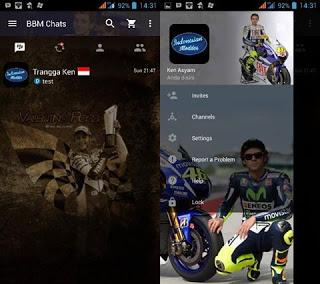 BBM Mod Valentino Rossi v3.0.0.18 Apk Gratis Terbaru 2016