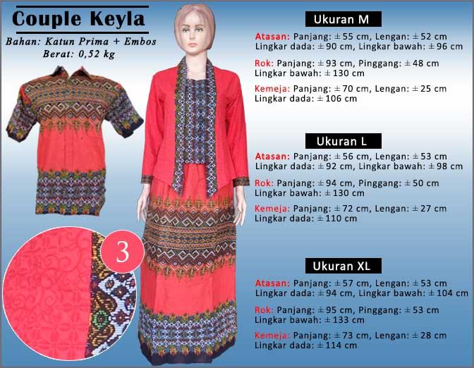 Setelan batik couple (Berupa 1 set atasan, Rok dan kemeja batik ...