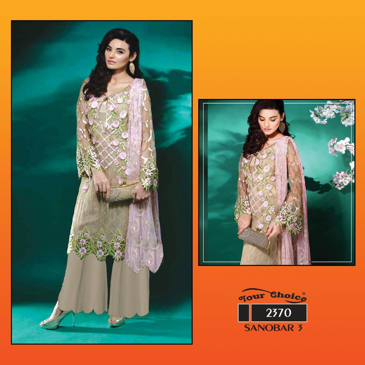 Sanobar 3 – Diffrent Style Designer Salwar Suit Wholesale