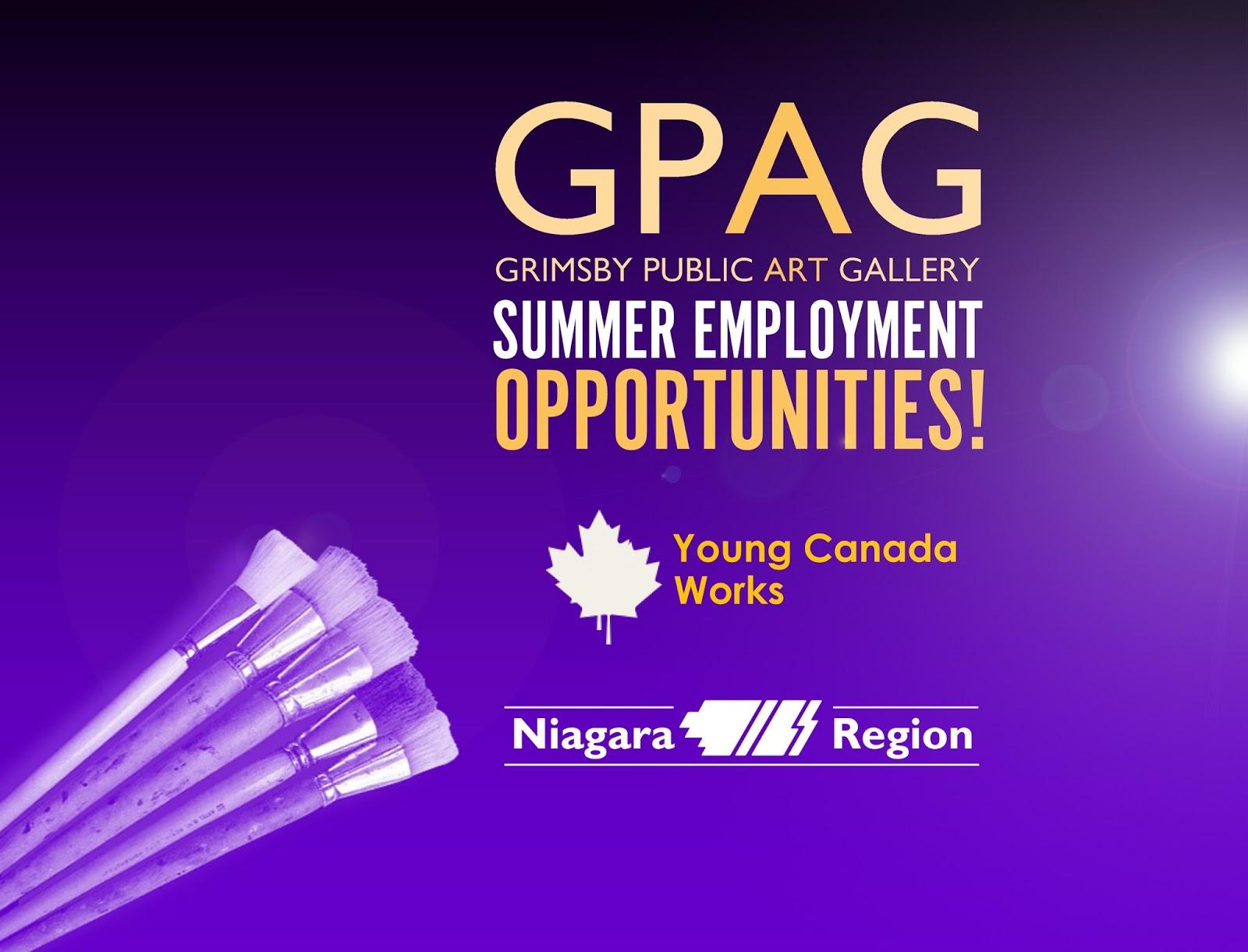 grimsby public art gallery summer job opportunities at gpag summer job opportunities at gpag