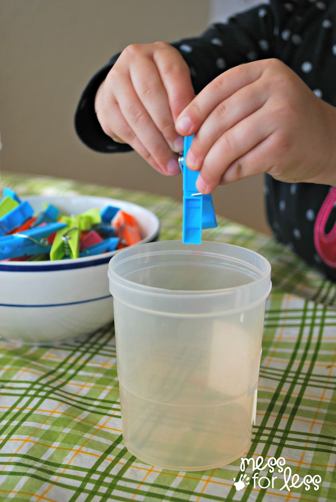 Clothespin Math Preschool Math Activity