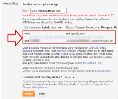 Cara Merubah Blogspot menjadi dotcom