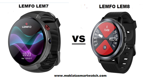 LEMFO LEM7 VS  LEMFO LEM8 SmartWatch comparison