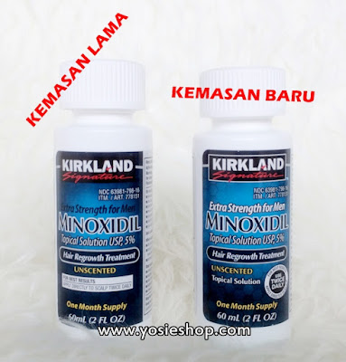 Isi Kemasan Baru 2017 Kirkland Signature Exra Strength For Men Minoxidil Topical Solution UPS 5% Hair Regrowth Treatment