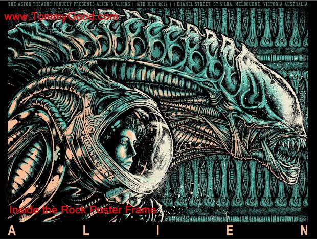 Rock Poster Frame World Premier Godmachine Alien Movie Coming