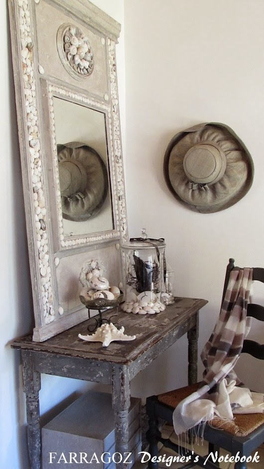 Combining 2 Passions: Trumeau Mirrors and Shell Art