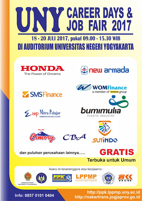 Jadwal UNY Career Day & Job Fair Juli 2017