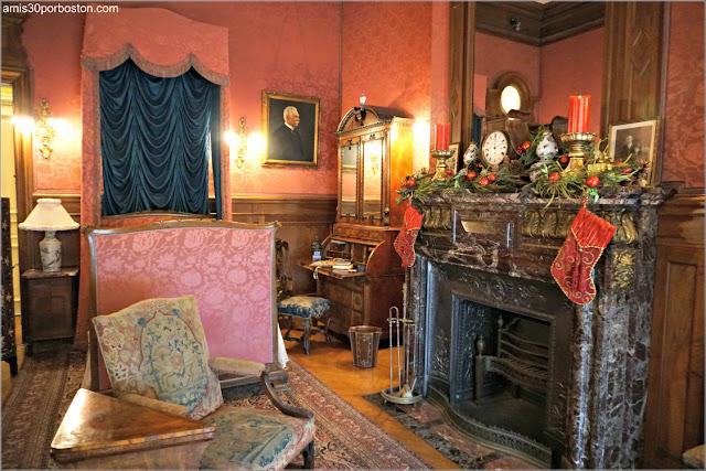 Dormitorio del Señor Berwind en la Mansión The Elms en Newport