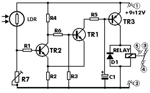 Rangkaian Saklar Otomatis Lampu Jalan Kumpulan Skema Rangkaian Elektronika