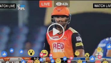 MI vs SRH Live Streaming Online Today's Match IPL
