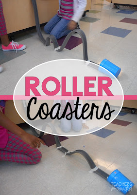 STEM Challenge: This one is a kid favorite! Using foam tubes students try many versions and then design a marble coaster with twists, turns, and loops!
