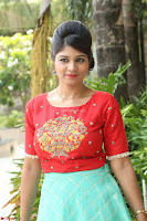 Lucky Shree Looks super cute in Bright Red Green Anarkali Dress ~  Exclusive 035.JPG