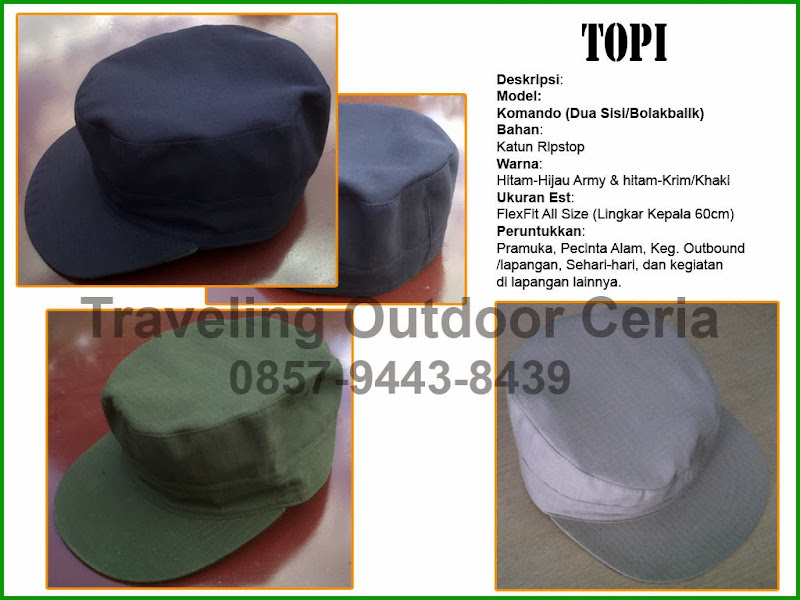 Traveling Outdoor Ceria  Topi Outdoor Komando - Commando Hat (HHCH111) 0d952b9db5