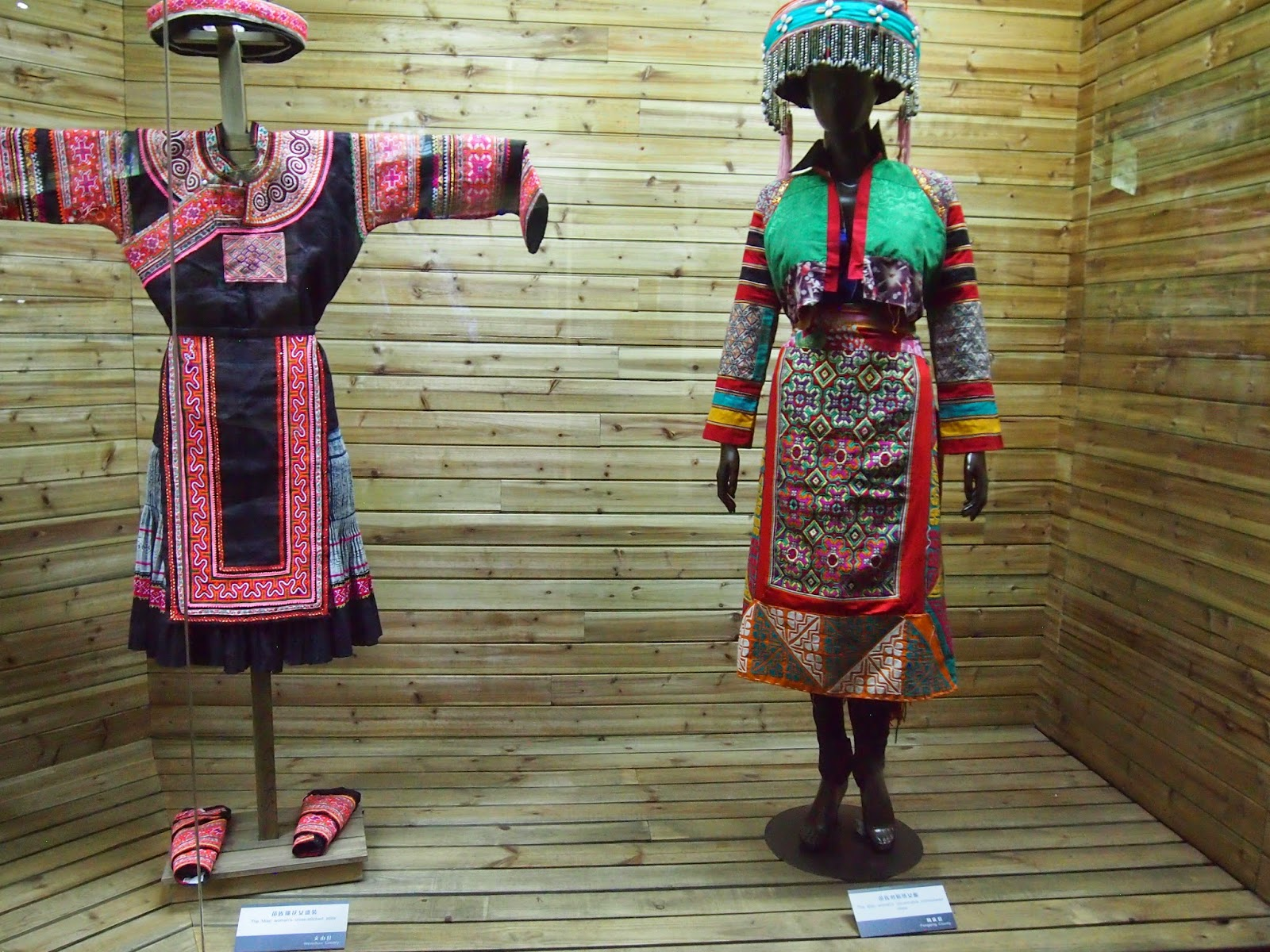 Ethnic dress at the Yunnan Nationalities Museum