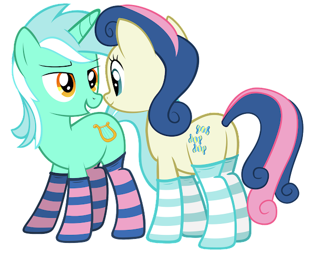 Lyra and bonbon in socks