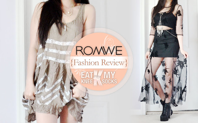 Coming up in my latest fashion review are two summer-ready styles from Romwe, including a ruffled lace-paneled trapeze dress and black sheer mesh maxi dress. These affordably-priced designs are both dupes of popular, more expensive brands, including Free People and For Love & Lemons. - Eat My Knee Socks / Mimchikimchi