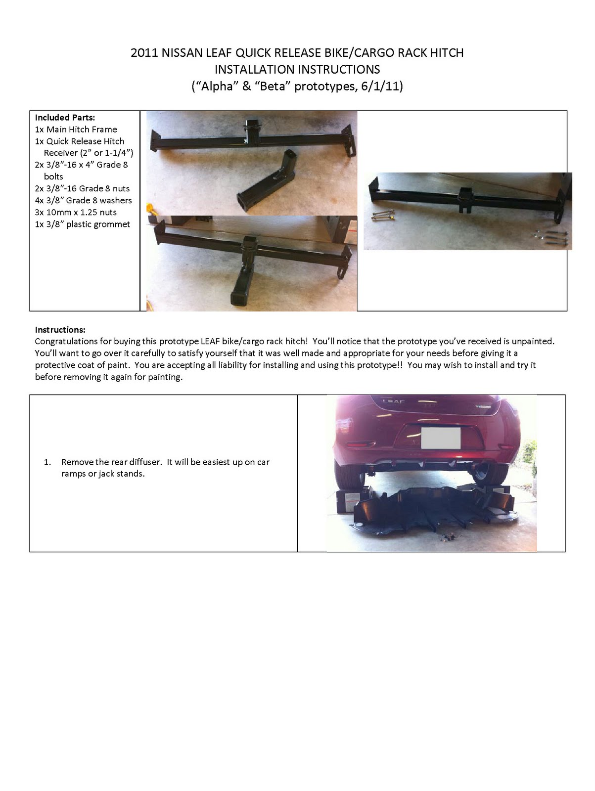Nissan Leaf Related Nissan Leaf Removable Bike Rack And
