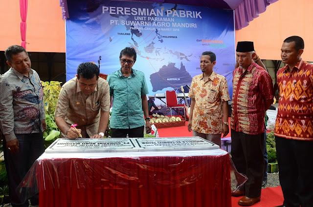 Pabrik Pupuk di Padang Cakua Diresmikan Gubernur