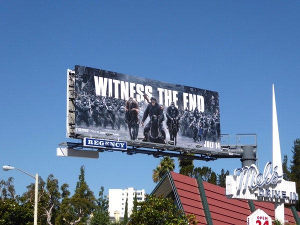 War for Planet Apes movie billboard