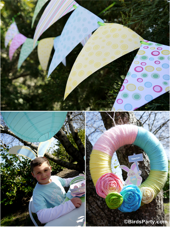 Kid's Easter Egg Hunt Party and Printables  - BirdsParty.com