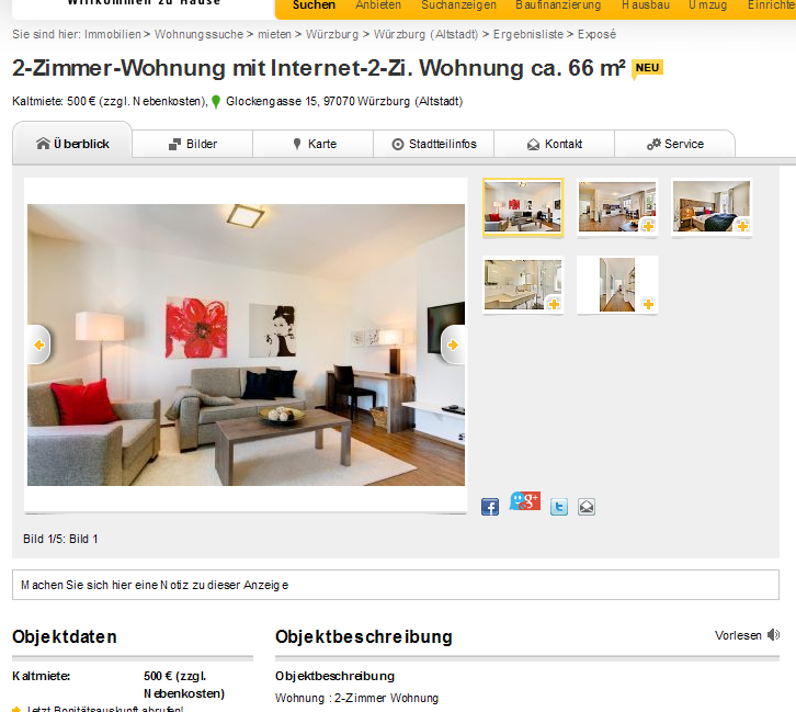 2 zimmer wohnung mit internet 2 zi. Black Bedroom Furniture Sets. Home Design Ideas