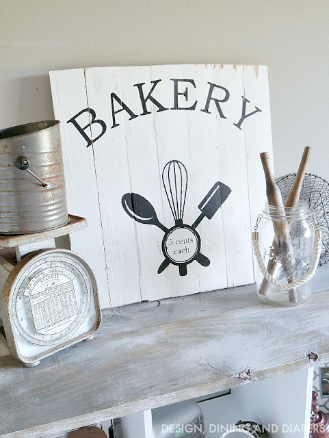 DIY Vintage Inspired Bakery Sign