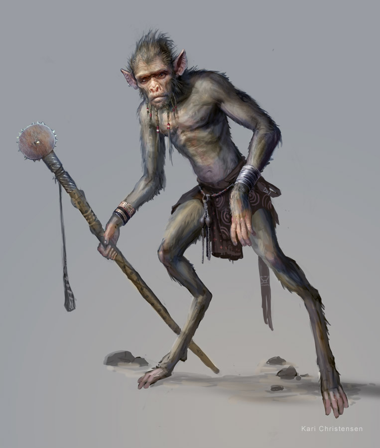 KÄRI ART WORK: Humanoid Creature Design
