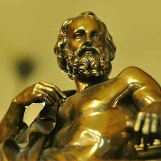 Patung perunggu Plato filsuf Yunani Kuno