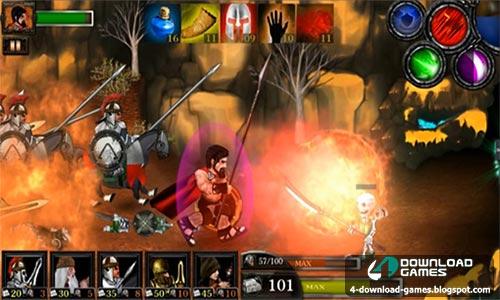 لعبة الحروب اسبرطة ضد الزومبي Spartans Vs Zombies