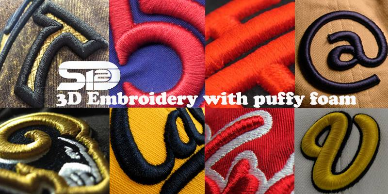 3D Embroidery with Puffy Foam