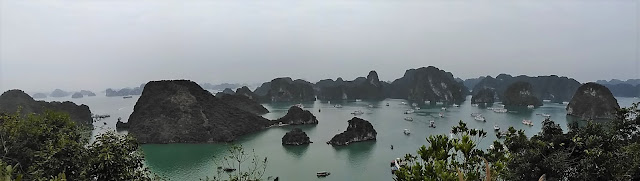 ti top island panorama halong bay vietnam