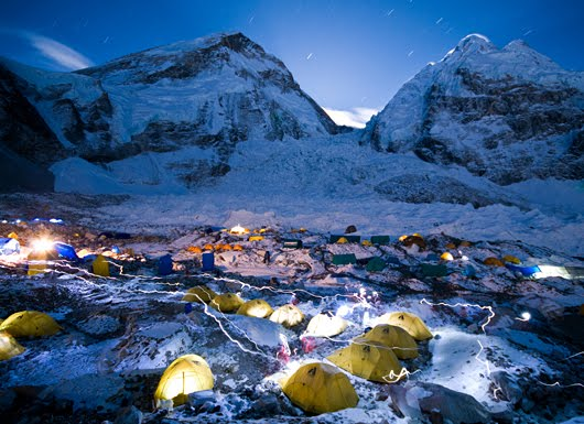 It's a special experience to spend a whole night on everest base camp.