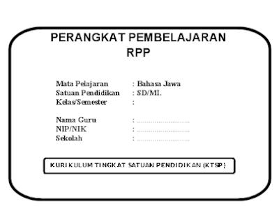 RPP Silabus Prota Promes KI KD Bahasa Jawa kelas SD MI