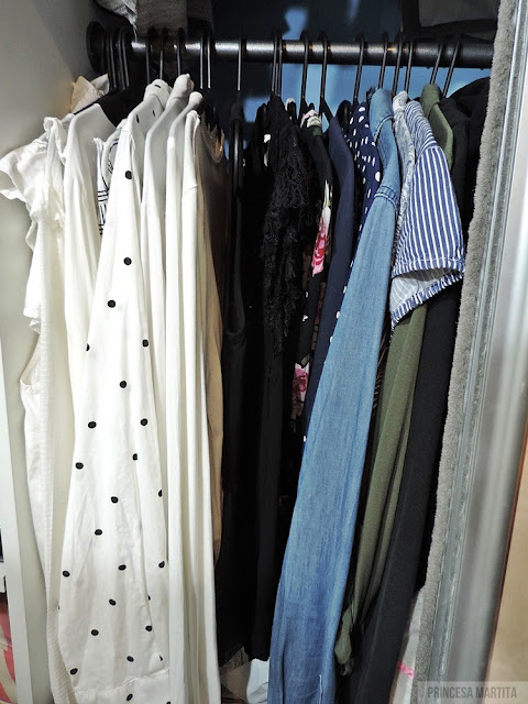 organizacja ubrań koszule