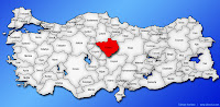 Yozgat ilinin Türkiye haritasında gösterimi