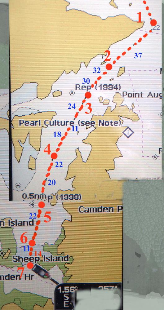 Sailing Aussie Coast Sheep Island Rogers Strait To Kingfisher
