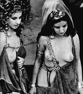 Which classic silent movie features a nude orgy scene