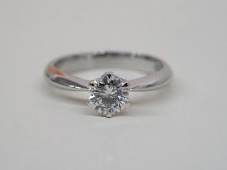 ダイヤモンドが入った立て爪型の指輪をお買い取り致しました