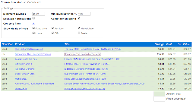 Ebay Sniper Now Shows Our Marketplace Deals Too