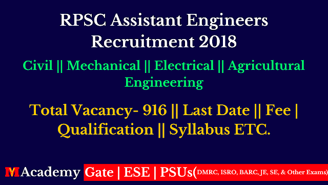 RPSC Assistant Engineers recruitment