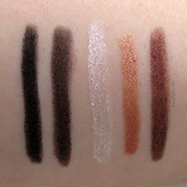 Urban Decay Travel-Size Set of 5 Cosmic 24/7 Liners Holiday 2015 Swatches & Review
